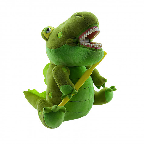 Игрушка мягкая с зубами Revyline, Крокодил